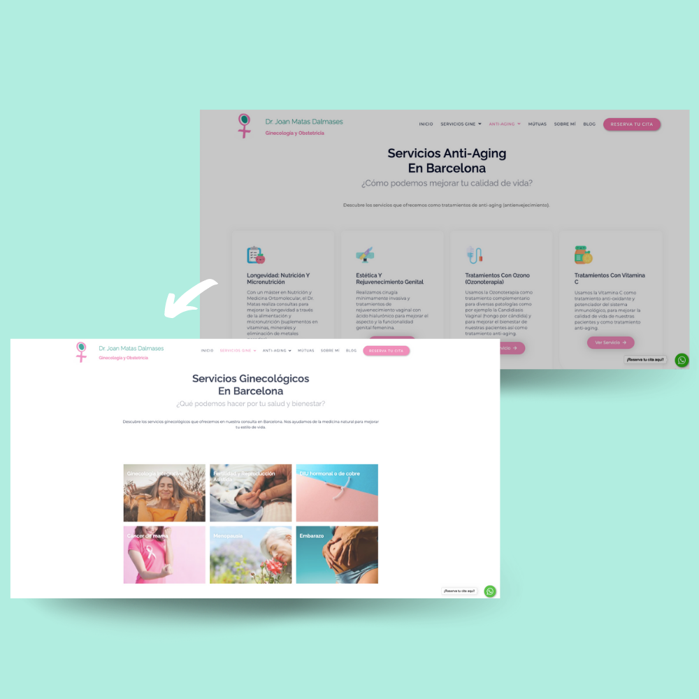 mockup before and after website