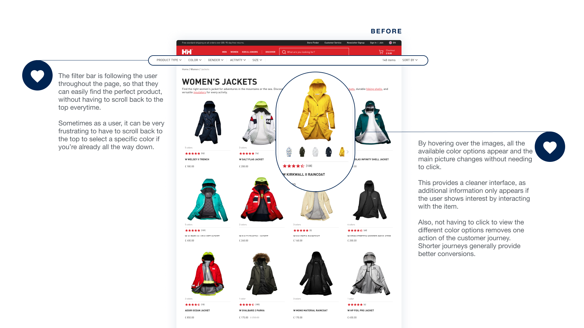 Product listing page_nice features